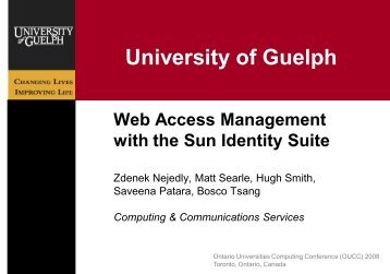 Web Access Management with Sun Identity Suite - Single Sign On ...