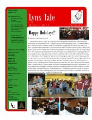 12.2009 Lynx Tale.pdf - Lindenwood University