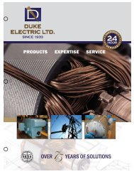 OVER YEARS OF SOLUTIONS - Duke Electric