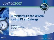 Architecture for WAMS using PI at Entergy - OSIsoft