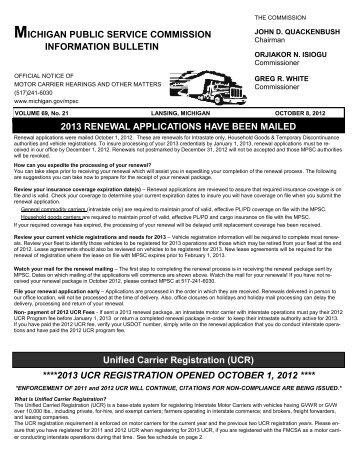 unified carrier registration 2013 - Virginia Department of Motor ...