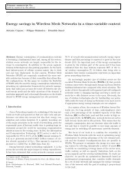 Energy savings in Wireless Mesh Networks in a time-variable context