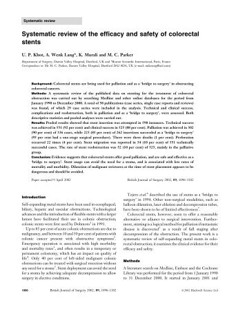 Systematic review of the efficacy and safety of ... - NordesteMed