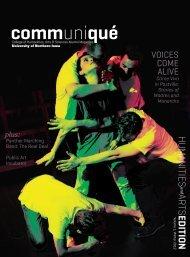 communiqué - University of Northern Iowa