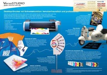 Desktop-Drucker mit Schneidefunktion ... - Farben-Frikell