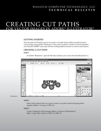 creating cut paths - Wasatch Computer Technology, LLC