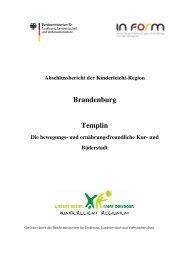 Brandenburg Templin - Besser essen. Mehr bewegen.