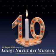 HERZLICHEN GLÜCKWUNSCH - Lange Nacht der Museen