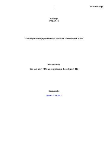 (FDE), Stand - GDL HOF Oberfranken