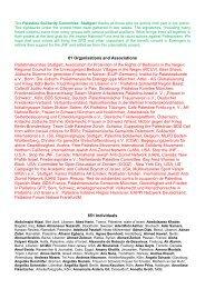 Palästinakomitee Stuttgart; Association for Protection of the Rights of ...