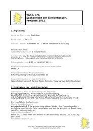 TÄKS. e.V. Sachbericht der Einrichtungen/ Projekte 2011