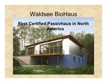 Waldsee BioHaus - Clean Energy Resource Teams