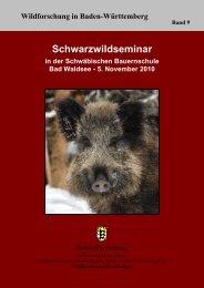 Schwarzwildbewirtschaftung, Fachseminar in der Schwäbischen ...