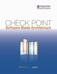 Check Point Software Blades - Integrity Solutions