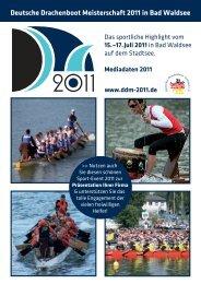 Deutsche Drachenboot Meisterschaft 2011 in Bad Waldsee