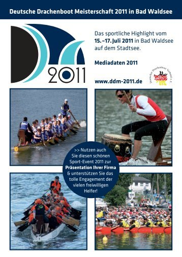 Deutsche Drachenboot Meisterschaft 2011 in Bad Waldsee