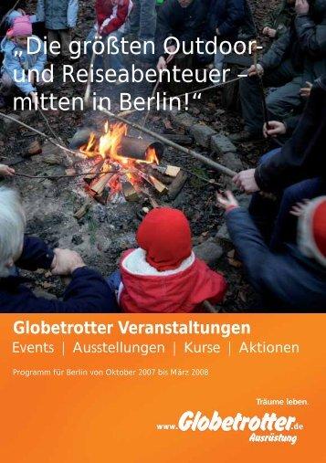 """""""Die größten Outdoor- und Reise abenteuer – mitten in Berlin!"""""""