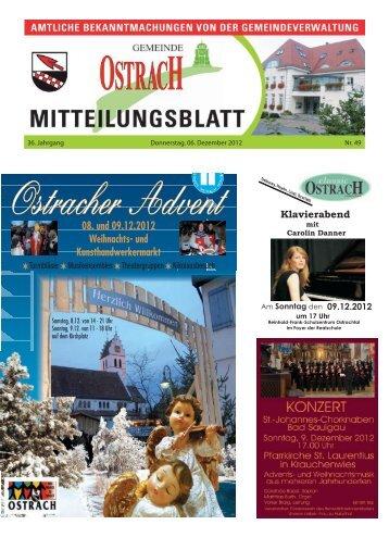 Mitteilungsblatt Woche 49 - Ostrach