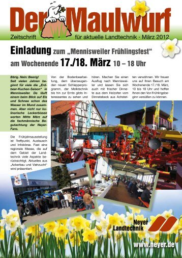 Der Maulwurf - Neyer Landtechnik GmbH