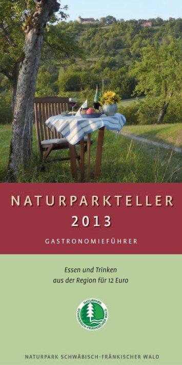 Naturparkteller 2013 - Naturpark Schwäbisch Fränkischer Wald