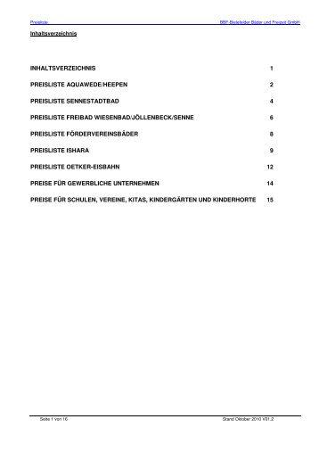 Preisliste Stand Oktober 2010 v1.2 - BBF