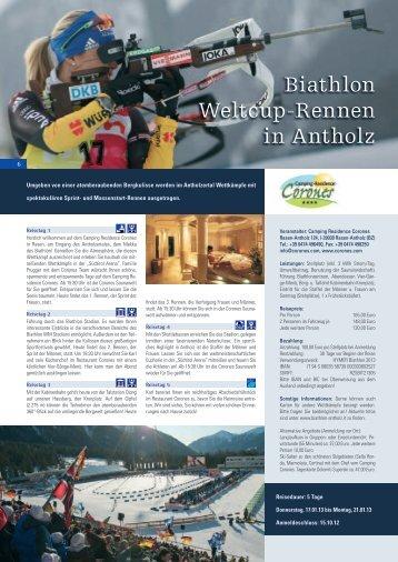 Biathlon Weltcup-Rennen in Antholz - HYMER.com