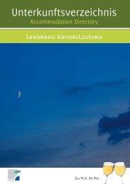 Unterkunftsverzeichnis (Druckversion) - Landkreis Kaiserslautern