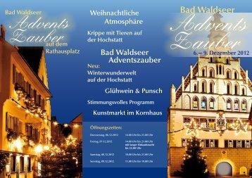 Programmflyer (pdf) - und Gewerbeverein Bad Waldsee eV