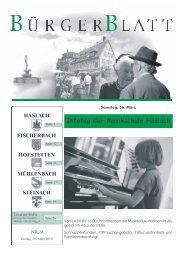 Infotag der Musikschule Haslach