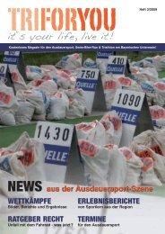 Kostenloses Magazin für den Ausdauersport, Swim-Bike-Run