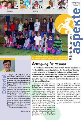 Ausgabe 10/2007 - Aspekte Steinhausen