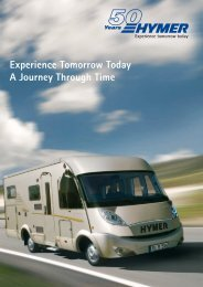 Experience Tomorrow Today A Journey Through ... - 50 Jahre HYMER