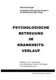 001 Einband 2011 - Deutscher Psychologen Verlag GmbH