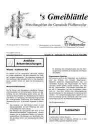 Amtliche Bekanntmachungen 's Gmeiblättle - Suedlicht GmbH