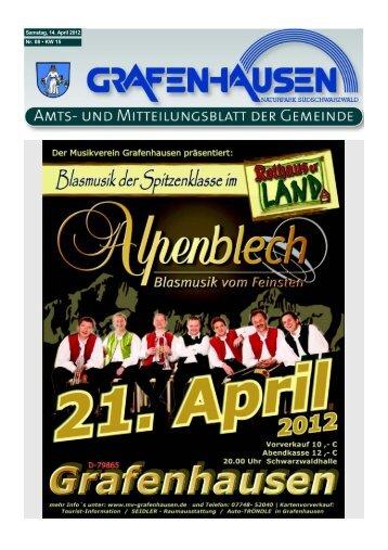 Samstag, 14. April 2012 Nr. 08 • KW 15 - Gemeinde Grafenhausen