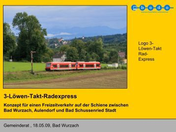 3-Löwen-Takt-Radexpress Konzept für einen ... - Der Wurzacher