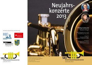 Programm Waldshut - Schaffhauser Blasorchester