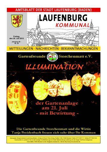 Freitag, den 20. Juli 2012 - Stadt Laufenburg