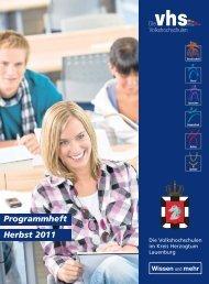 Programmheft Herbst 2011 Wissen - VHS Dassendorf