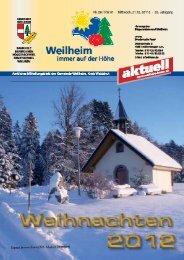 2012 Mitteilungsblatt Nr. 26 - Gemeinde Weilheim / Baden