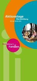 Aktionstage - Wertebildung in Familien