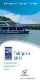Fahrplan 2011 Fahrgastschiff Waldshut-Tiengen