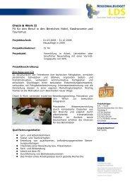 Projektblatt