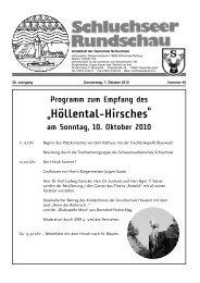 Amtsblatt Nr. 40.pdf - Gemeinde Schluchsee