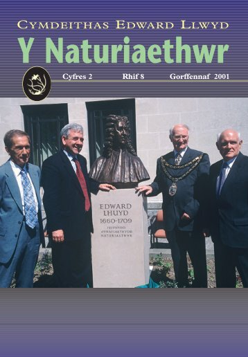 Haf 2001 - Cymdeithas Edward Llwyd