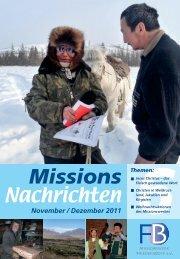 Nachrichten 2011-6 - Missionswerk FriedensBote