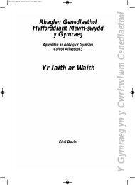 Yr Iaith ar Waith - WJEC