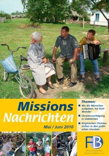 Nachrichten 2010-3 - Missionswerk FriedensBote