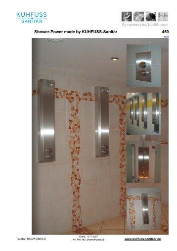 Shower-Power made by KUHFUSS-Sanitär 450 - Gabler ...