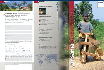 tansania kinderdörfer - Nehemia